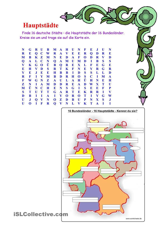 Bundesländer Und Ihre Hauptstädte | Bundesländer Und Ihre verwandt mit 16 Bundesländer Und Ihre Hauptstädte Liste