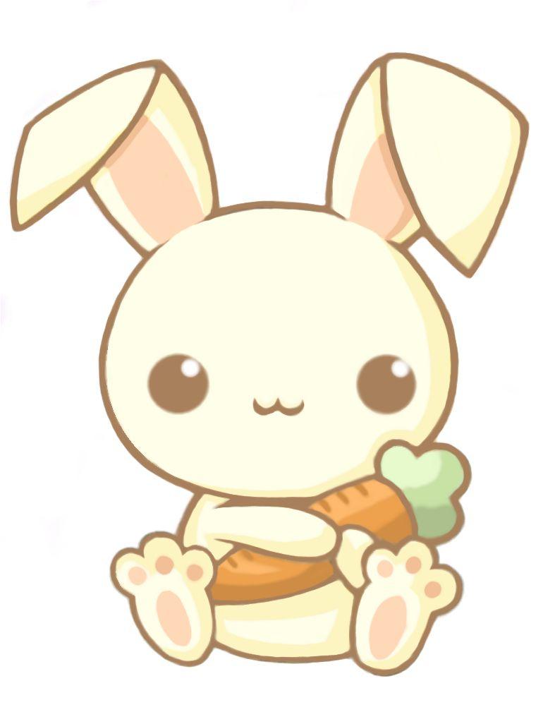 Bunny Holding Carrot (Mit Bildern) | Kawaii Kritzeleien für Manga Tiere