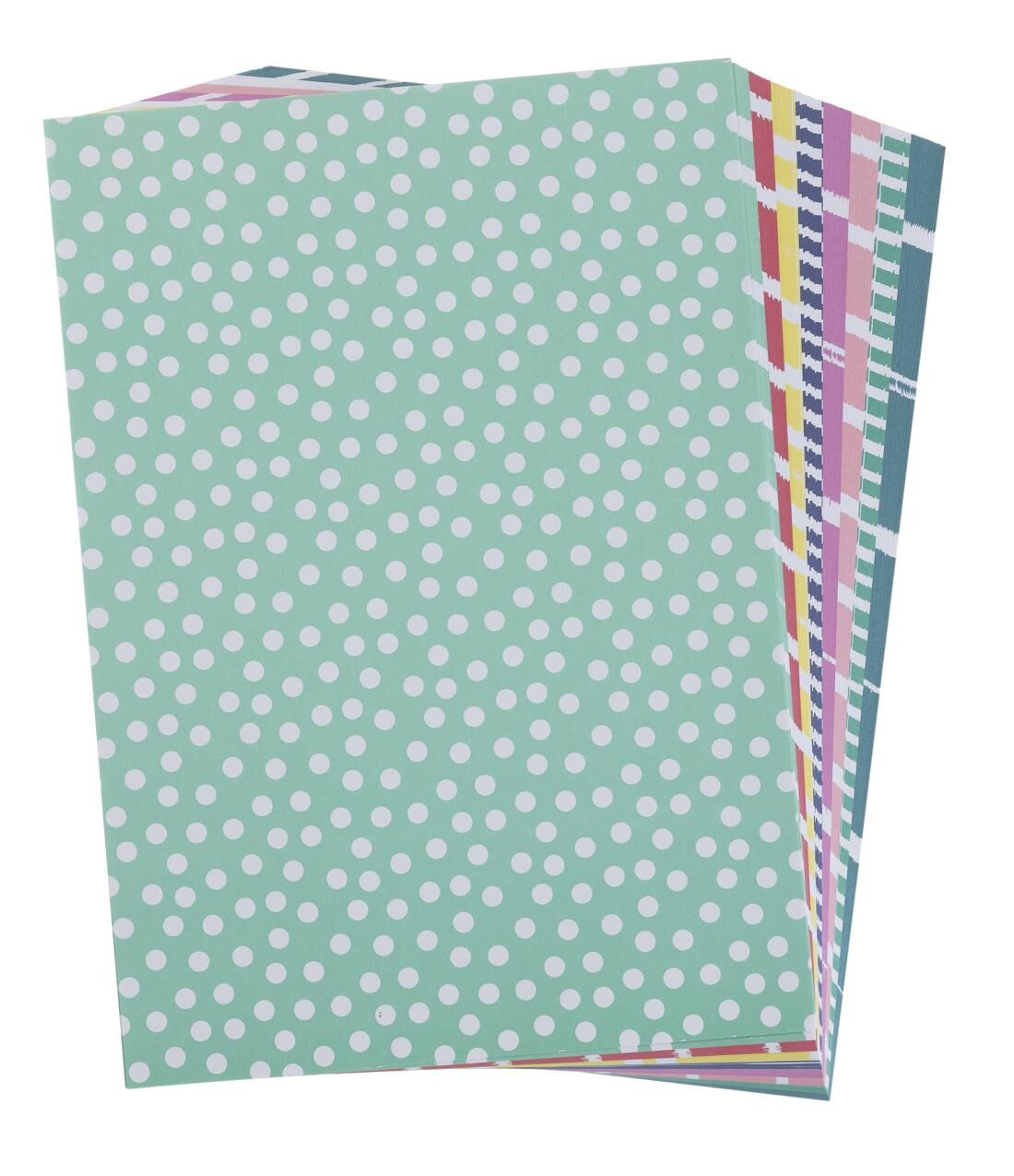 Buntes Musterpapier bei Gemustertes Tonpapier