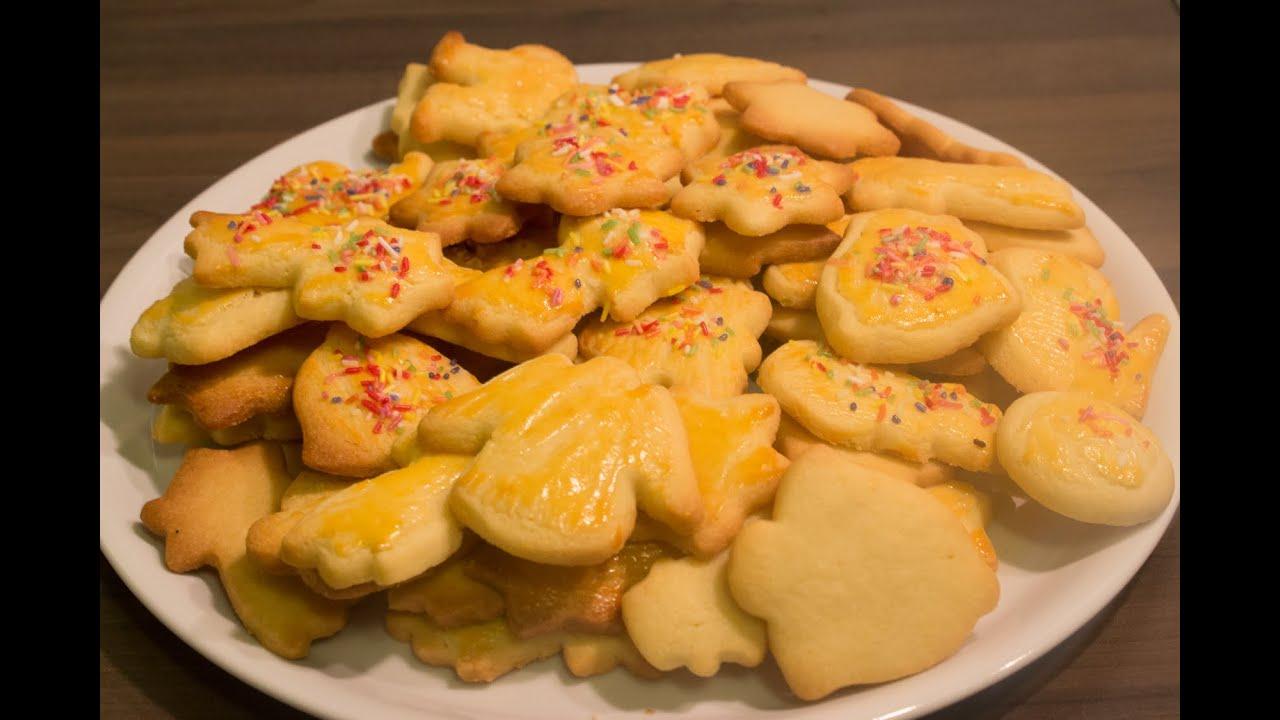 Butterplätzchen Selbst Gemacht - Einfach, Schnell Und Lecker - Rezept /  Recipe Weihnachtsplätzchen bei Butterplätzchen Rezept Einfach Und Schnell