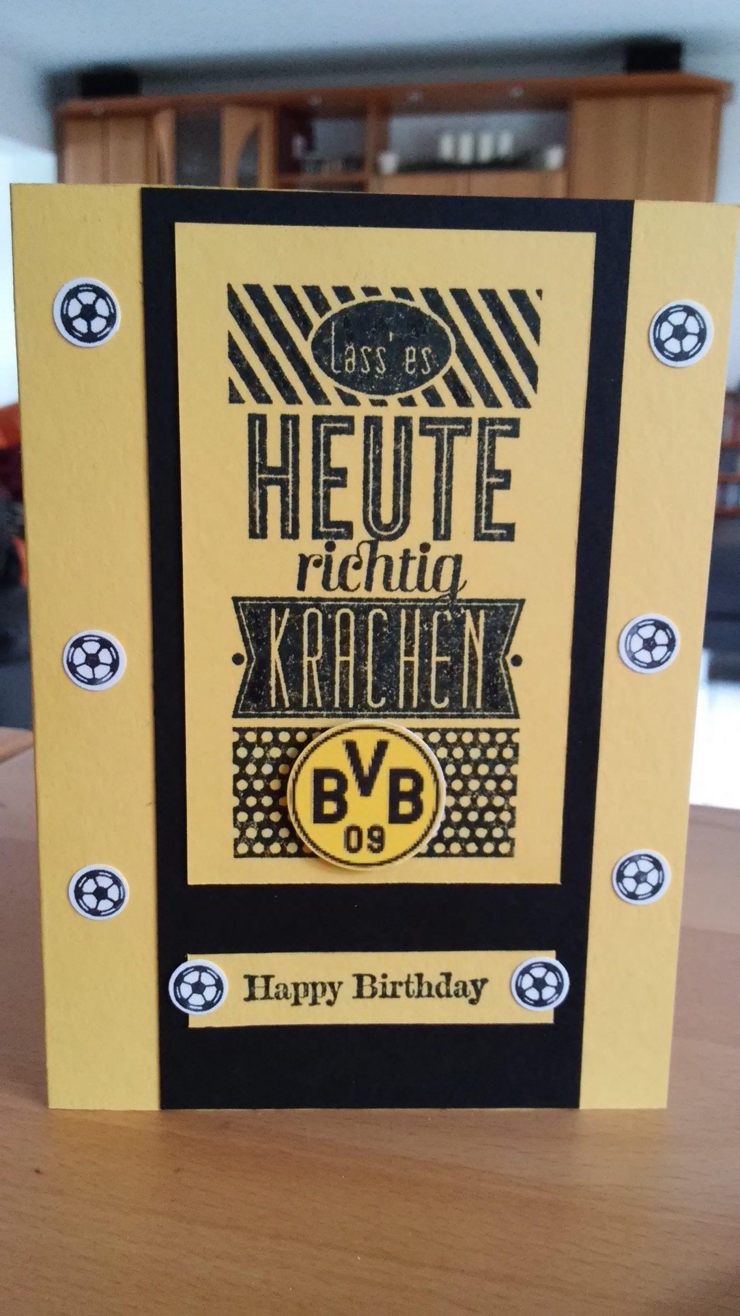Bvb 09 Fan Geburtstagskarte (Mit Bildern ganzes Bvb Geburtstagskarte