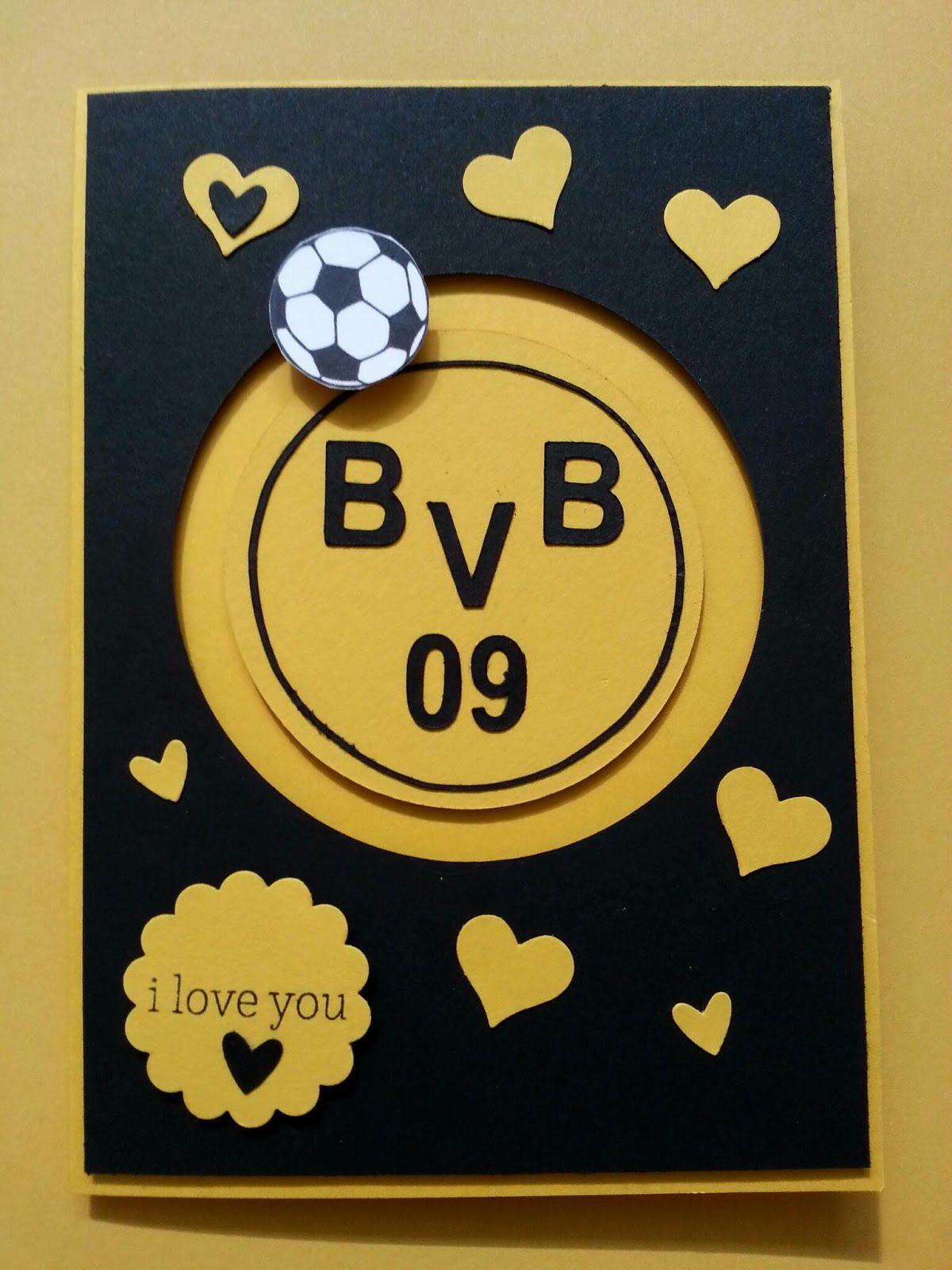 Bvb-Kullerkarte | Karten, Geburtstagskarte, Bvb Geschenk mit Bvb Geburtstagskarte
