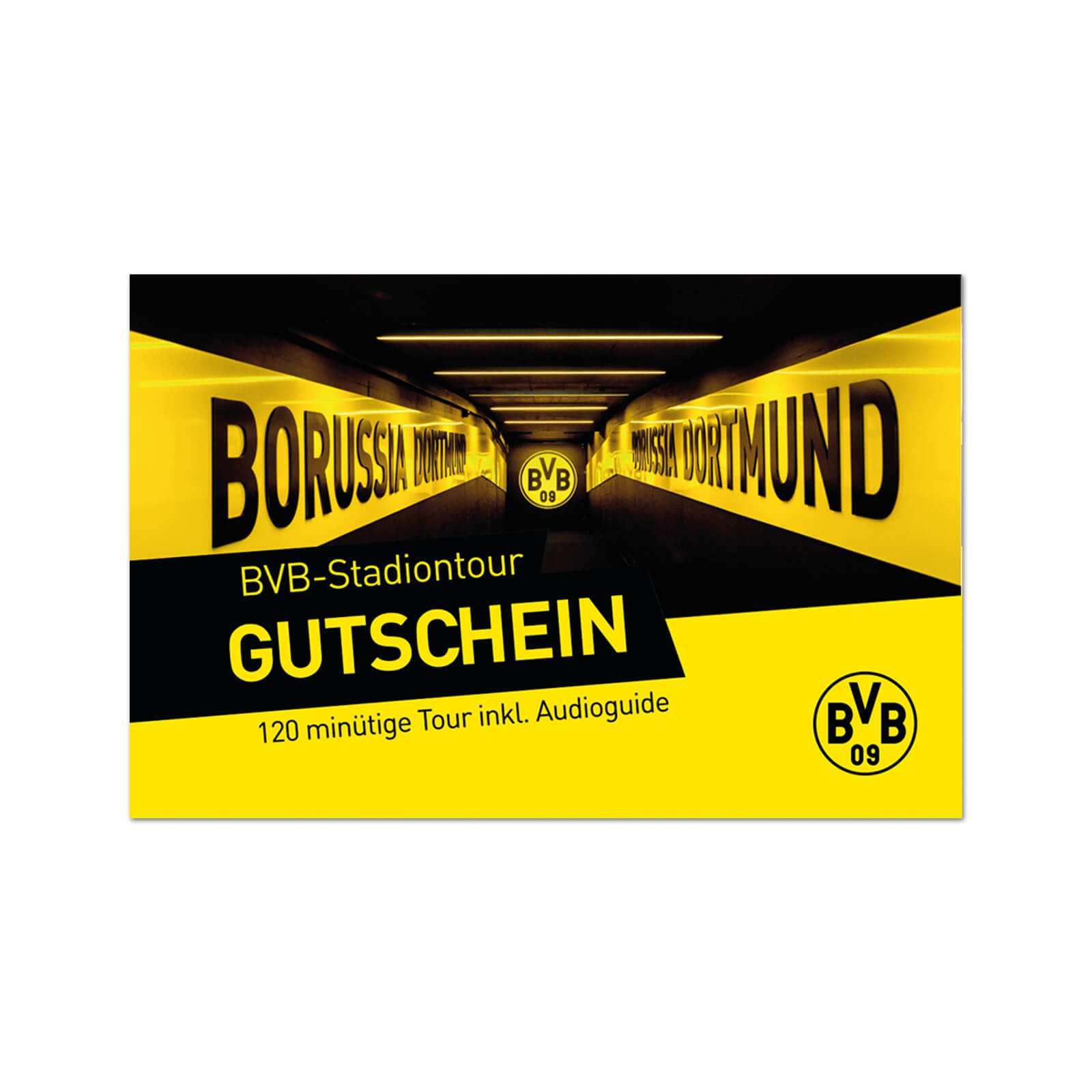 Bvb-Stadiontour Gutschein innen Bvb Geburtstagskarte