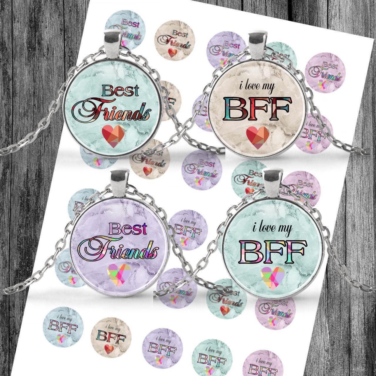 Cabochon Templates Digital Download Template Bff Best mit Buttons Vorlagen