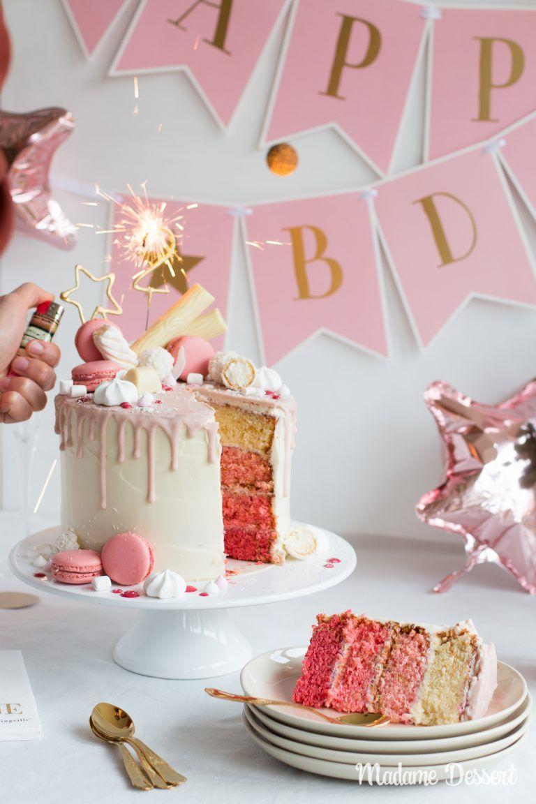 Candy Drip Cake Geburtstagstorte Mit Himbeeren & Kokos verwandt mit Bilder Geburtstagstorten