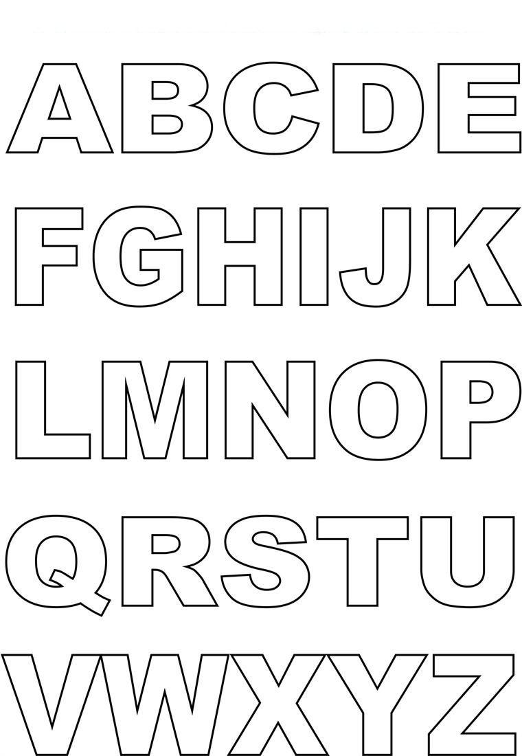Capital Alphabet Letters Coloring | Kiddo Shelter für Abc Buchstaben Zum Ausdrucken