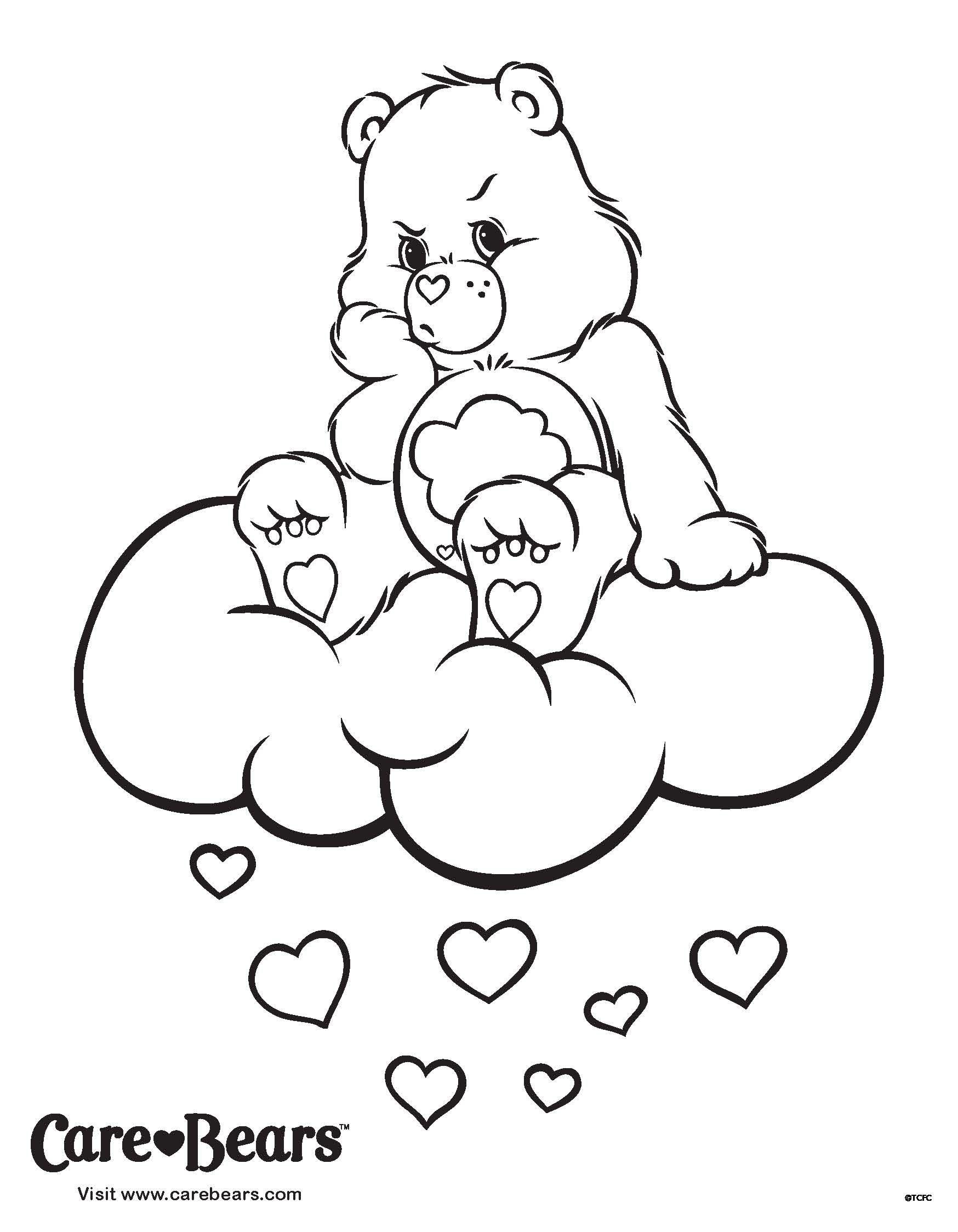 Care Bears Coloring Sheet: Don't Let The Grumpies Get You bestimmt für Malvorlagen Babybauch
