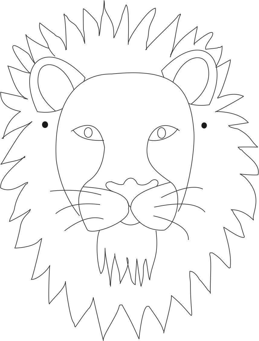 Carteta Leon In 2020 | Löwen Malvorlagen, Masken Basteln innen Löwenmaske Basteln