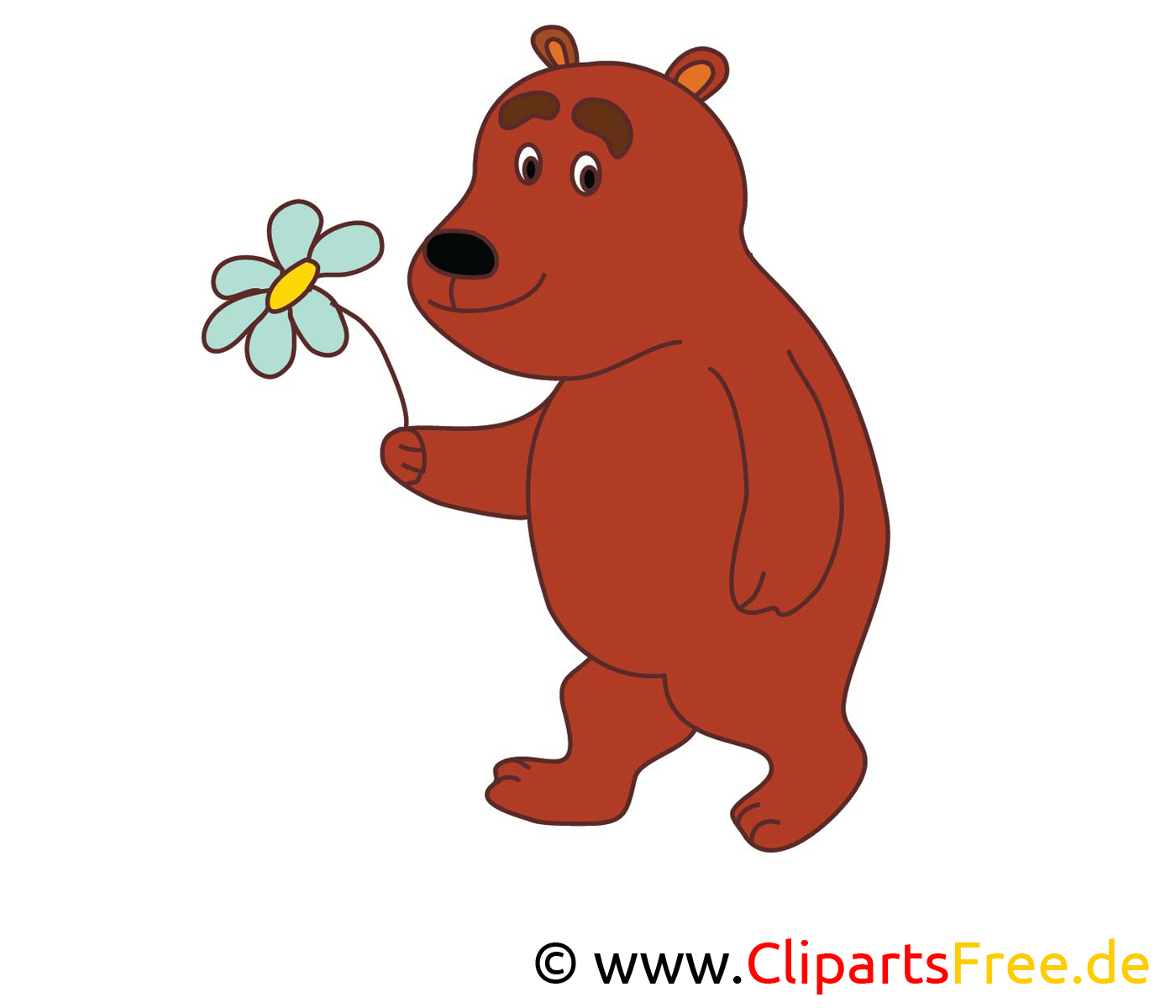 Cartoon Bär Bild Zum Ausdrucken Kostenlos ganzes Bären Bilder Zum Ausdrucken