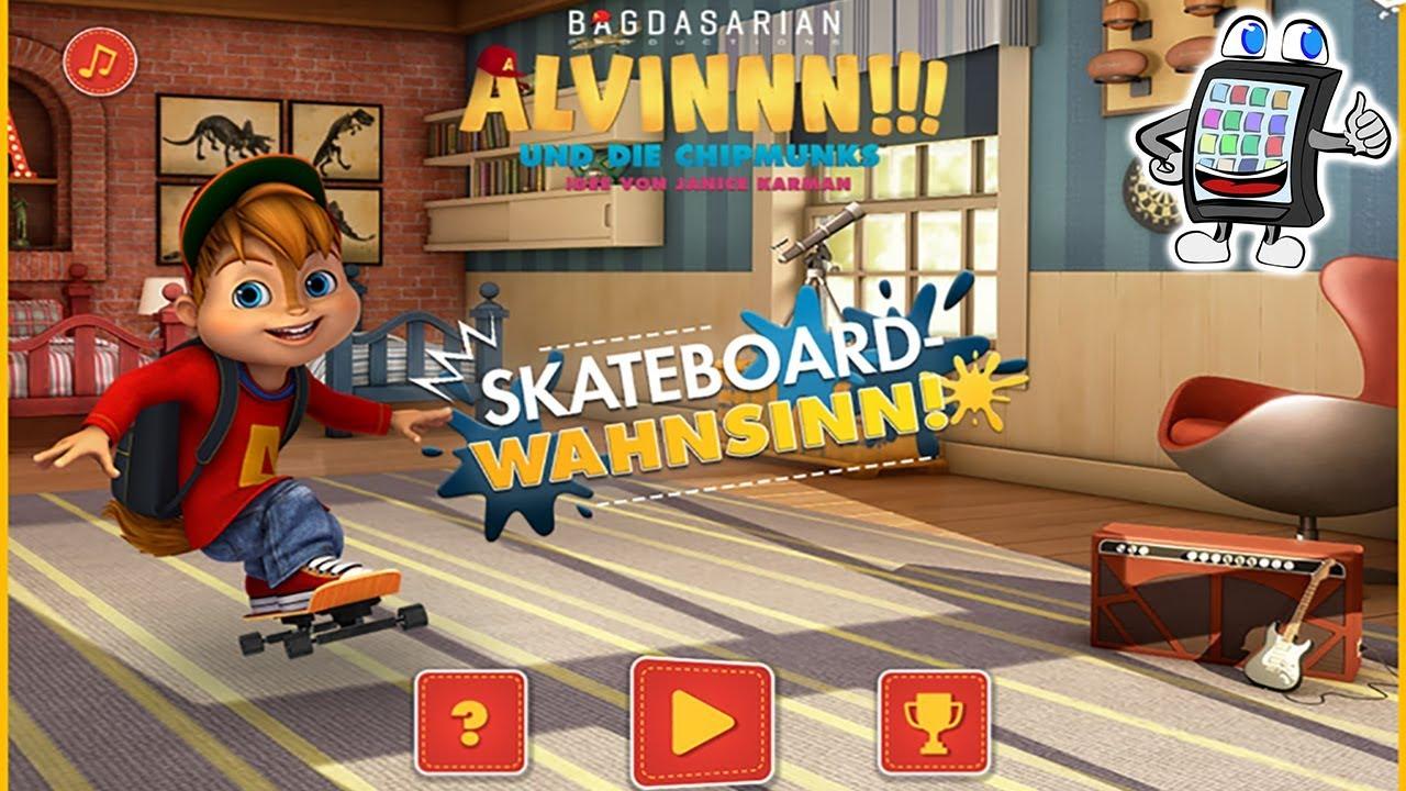 Chipmunks Skateboard Wahnsinn Spiel Deutsch   Ollie Über Schlagzeug   Spiel  Mit Mir Games mit Alvin Und Die Chipmunks Spiele