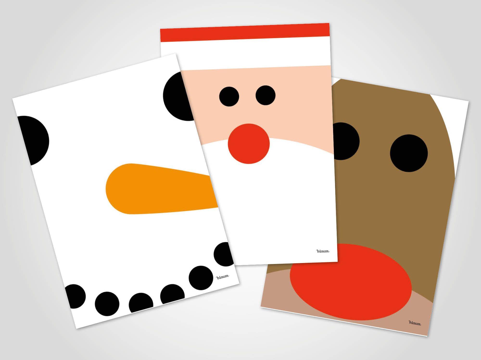 Christmas Set / Weihnachtskarte, Grußkarte, Karte bei Nikolaus Grußkarte