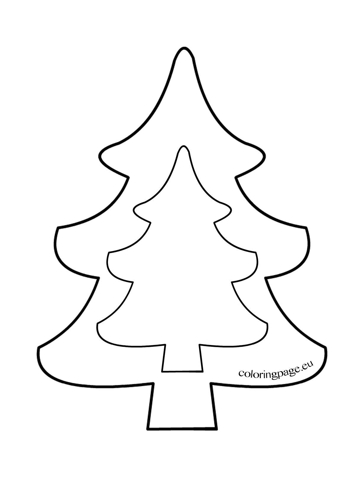 Christmas Tree Template To Print (Mit Bildern über Vorlage Tannenbaum Basteln