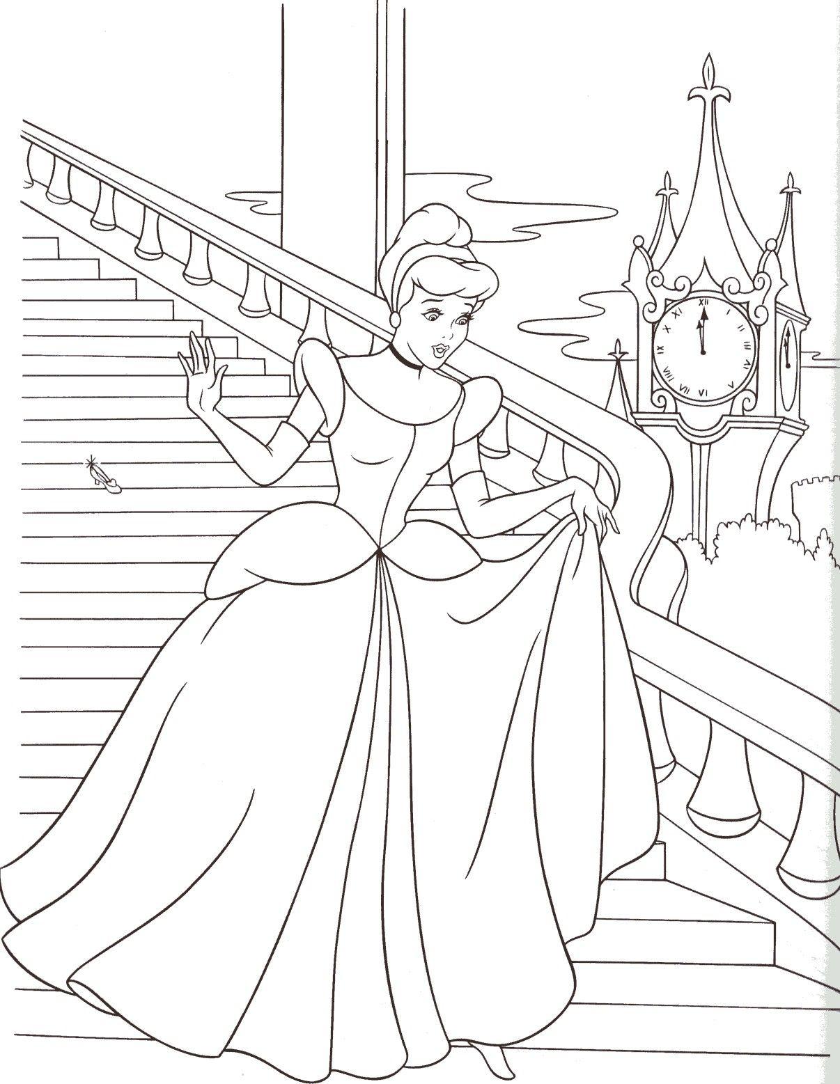 Cinderella   Ausmalbilder Kinder, Ausmalen, Ausmalbilder bestimmt für Prinzessin Schablonen Zum Ausdrucken