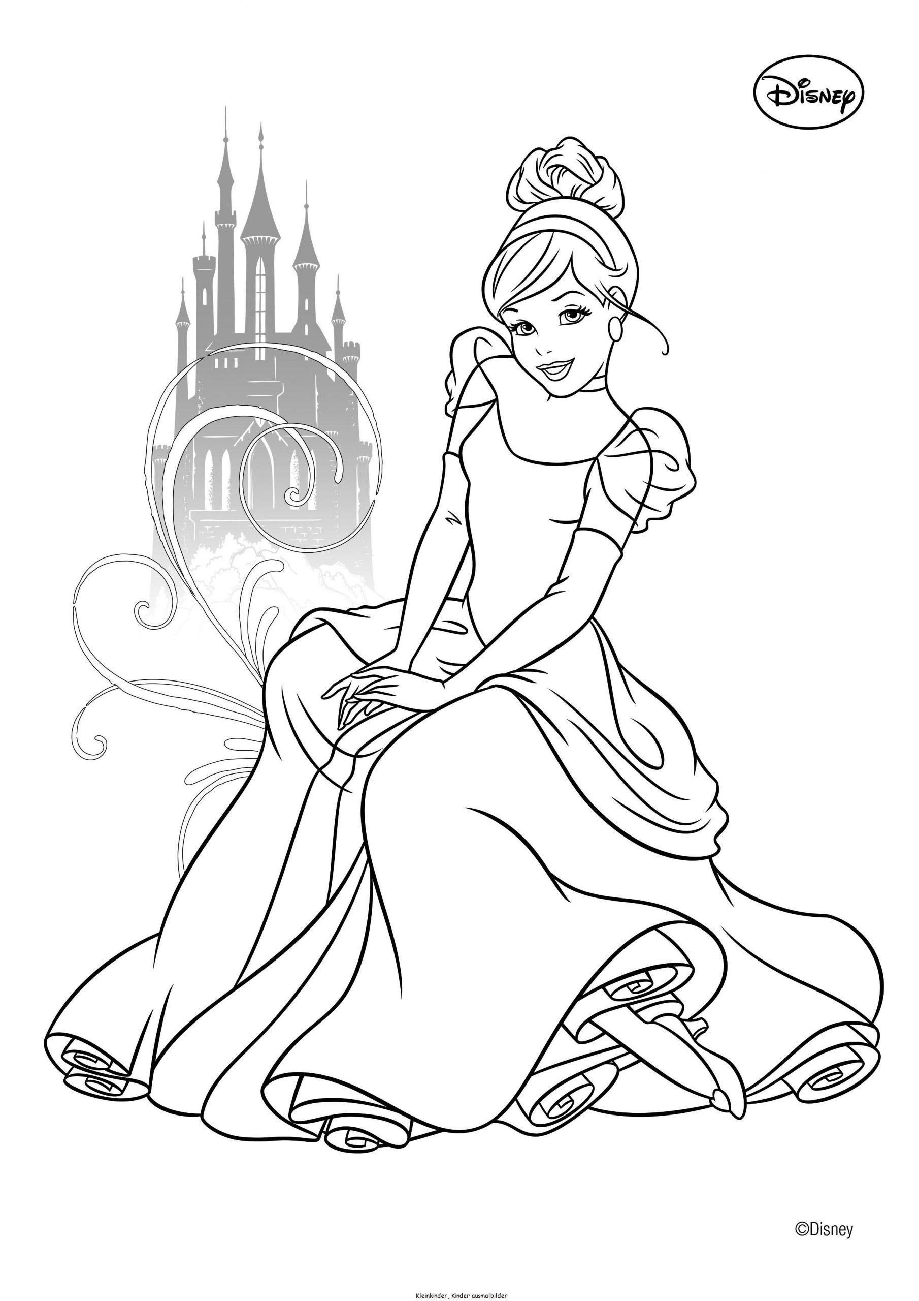 Cindirella Ausmalbilder   Ausmalbilder, Bilder Zum Ausmalen über Ausmalbilder Von Prinzessinnen