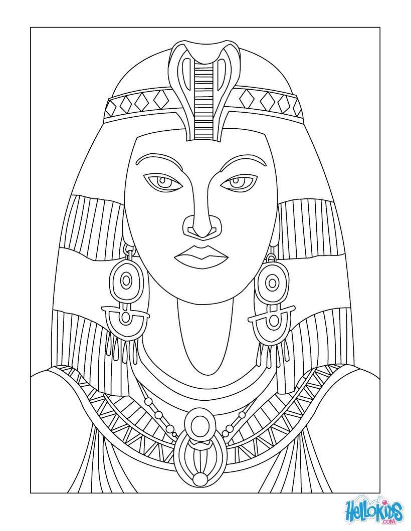 Cleopatra Königin Von Ägypten Für Kinder Ausmalbilder (Mit mit Ausmalbilder Ägypten