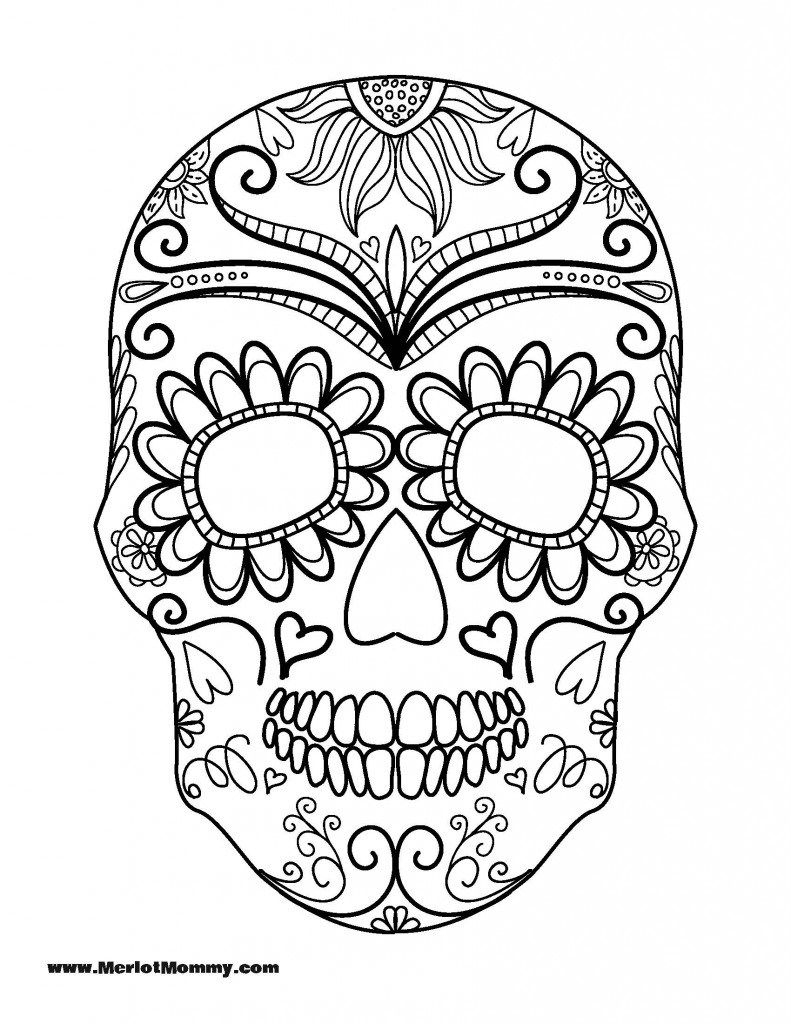 Click Here To Download The Pdf For The Sugar Skull Printable über Malvorlage Totenkopf