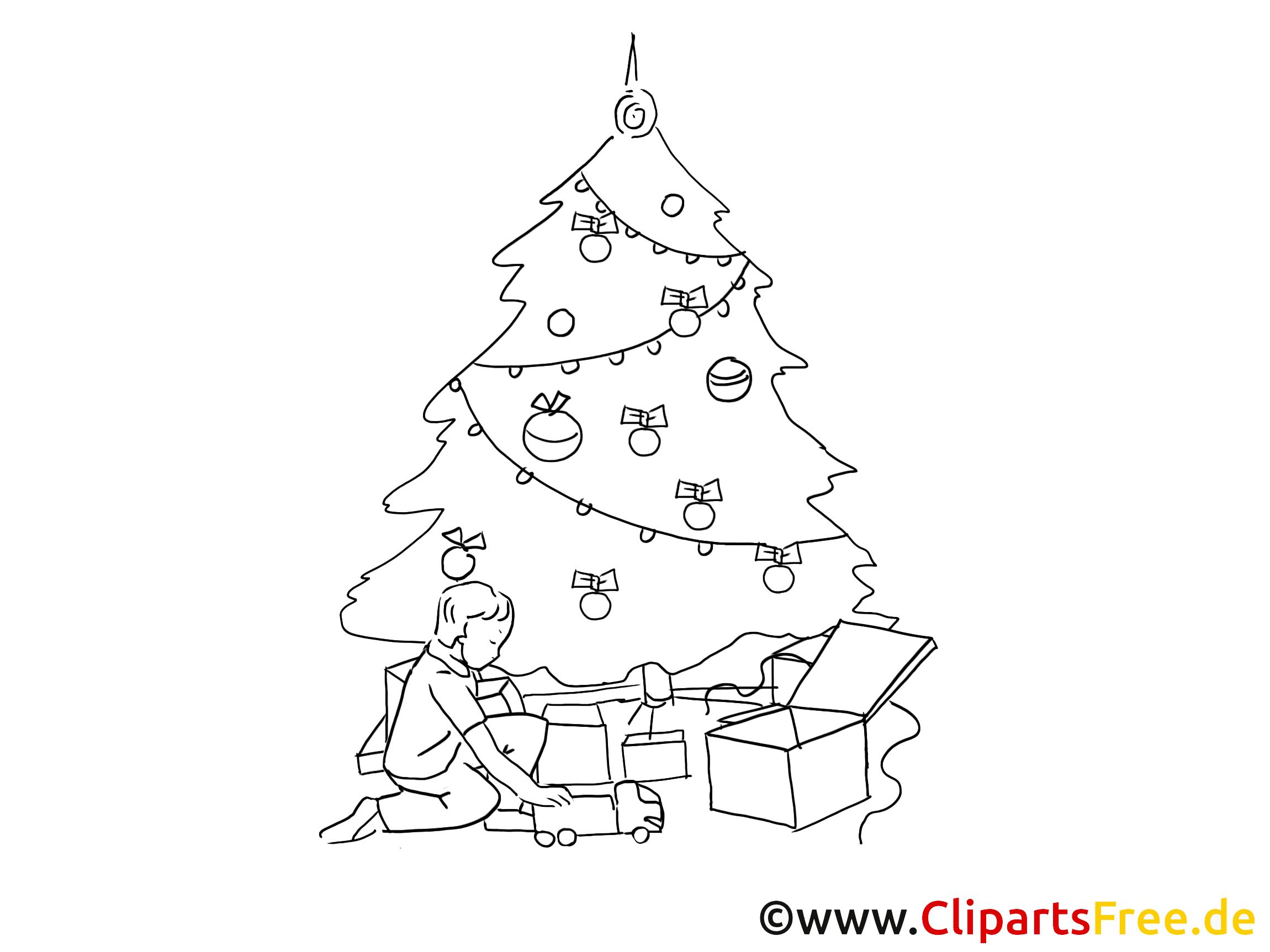 Clipart Weihnachten Schwarz Weiss bei Cliparts Weihnachtsmotive Kostenlos