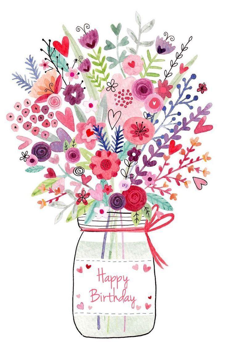 Cliparts Geburtstag Blumen | Geburtstag Blumen, Geburtstag bestimmt für Blumenbilder Zum Geburtstag