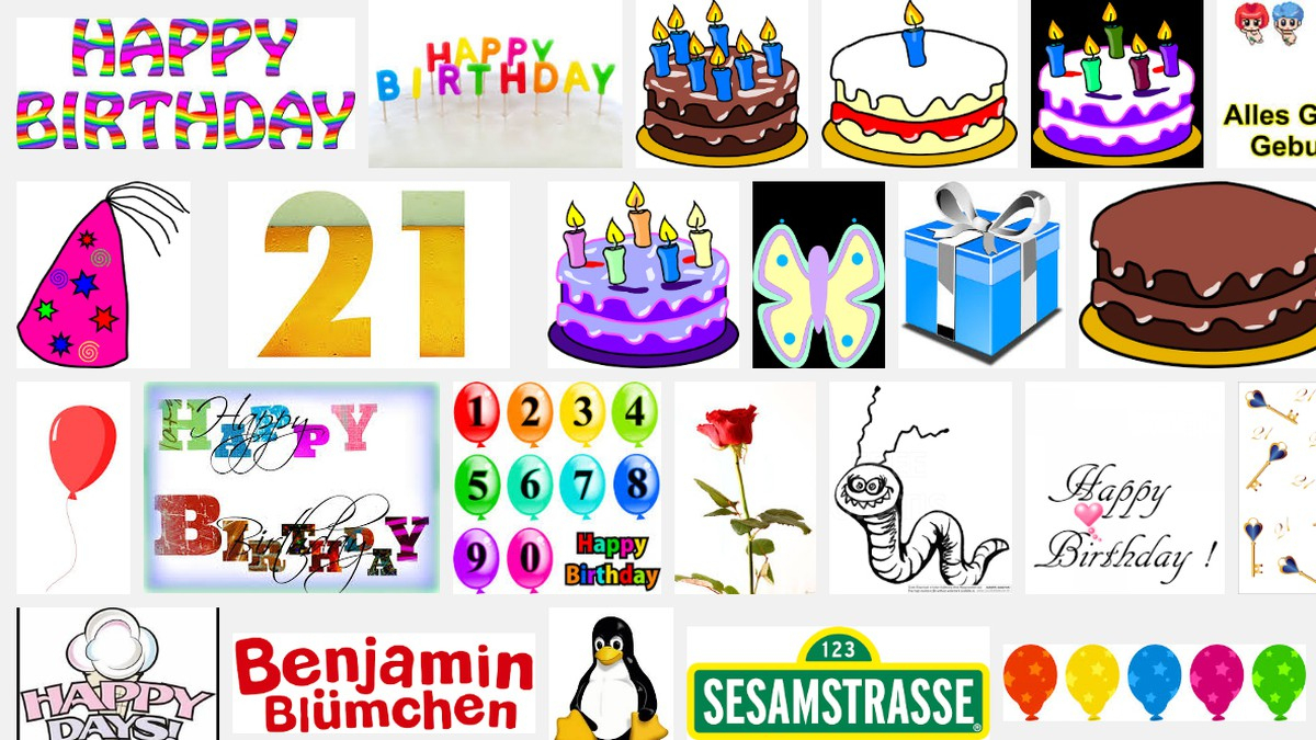 Cliparts Kostenlos Downloaden: Für Geburtstag, Hochzeit Und über Clipart Geburtstag Kostenlos