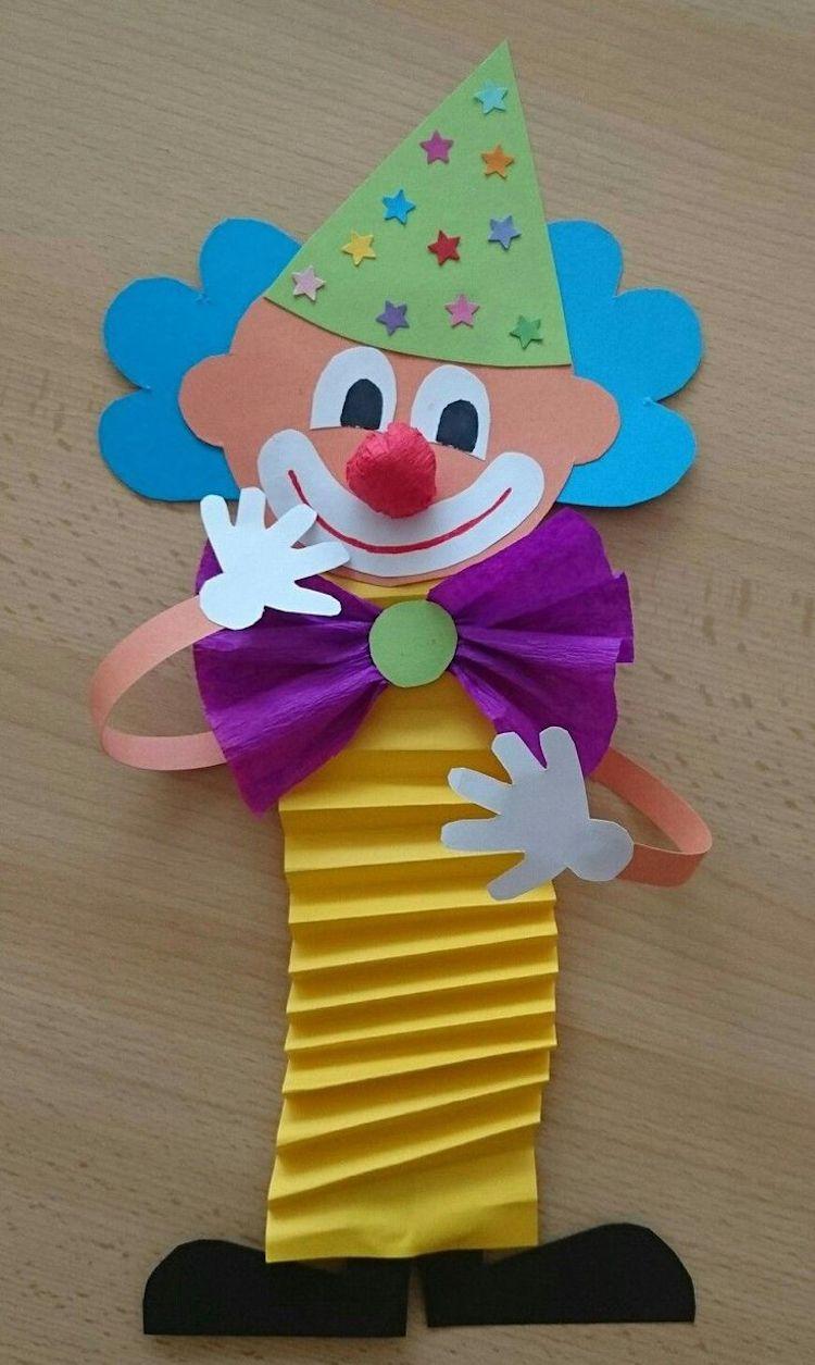 Clown Basteln Mit Kindern Zu Fasching – Vorlagen, Ideen Und ganzes Clown Basteln Vorlage