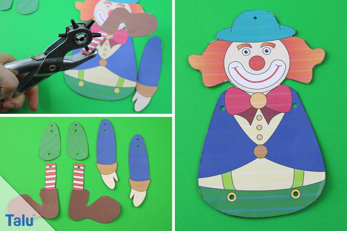 Clown / Clownsgesicht Basteln – Bastelanleitung Mit Ideen mit Clown Basteln Vorlage