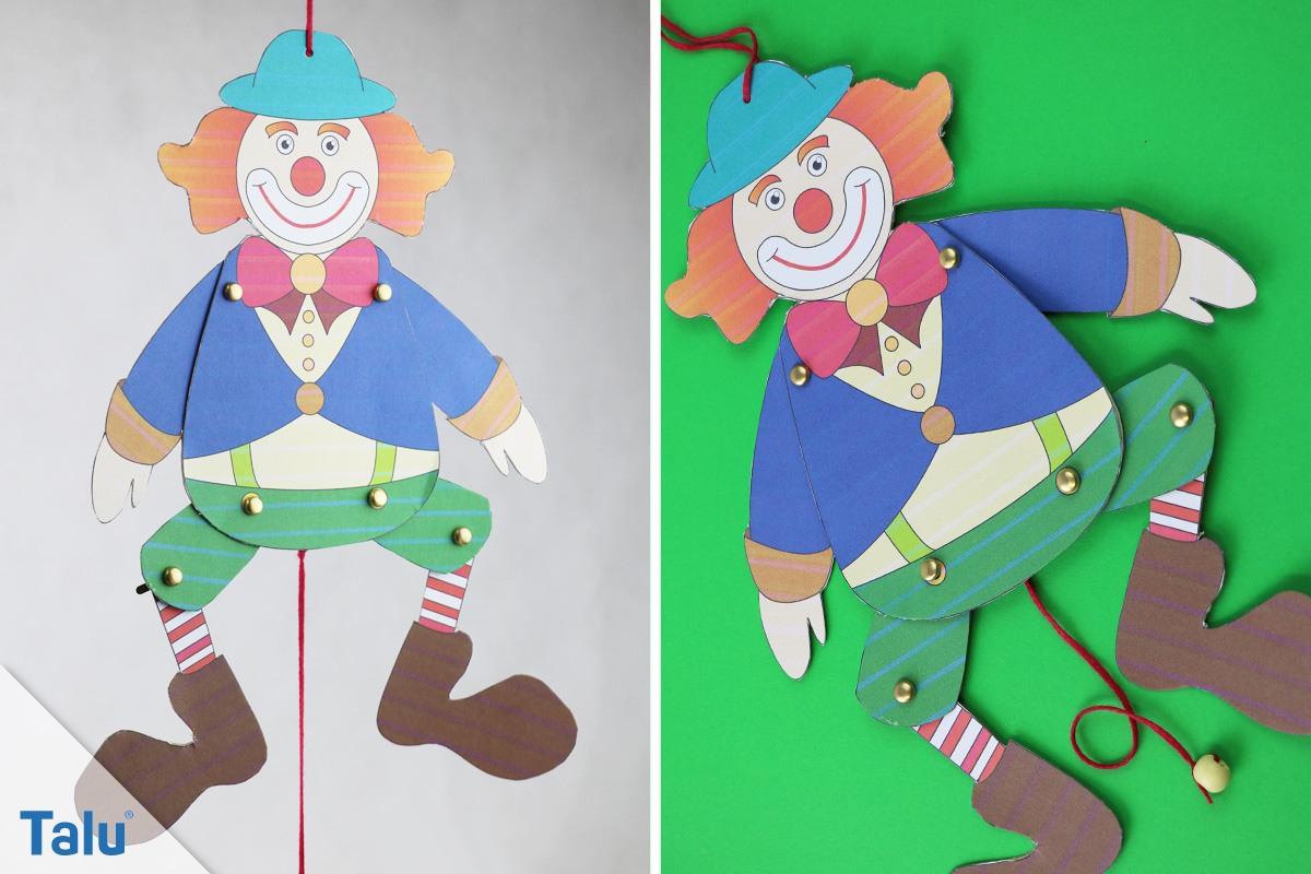 Clown / Clownsgesicht Basteln – Bastelanleitung Mit Ideen verwandt mit Clown Basteln Vorlage