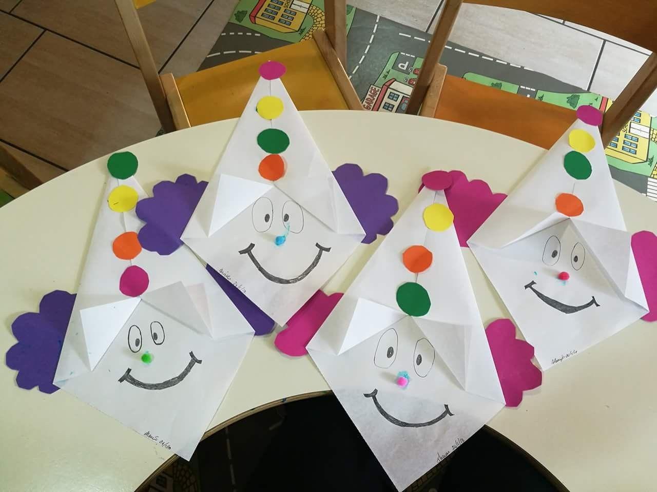 Clownsgesichter - Falten (Com Imagens) | Artesanato De Circo über Bastelarbeiten Für Kindergartenkinder