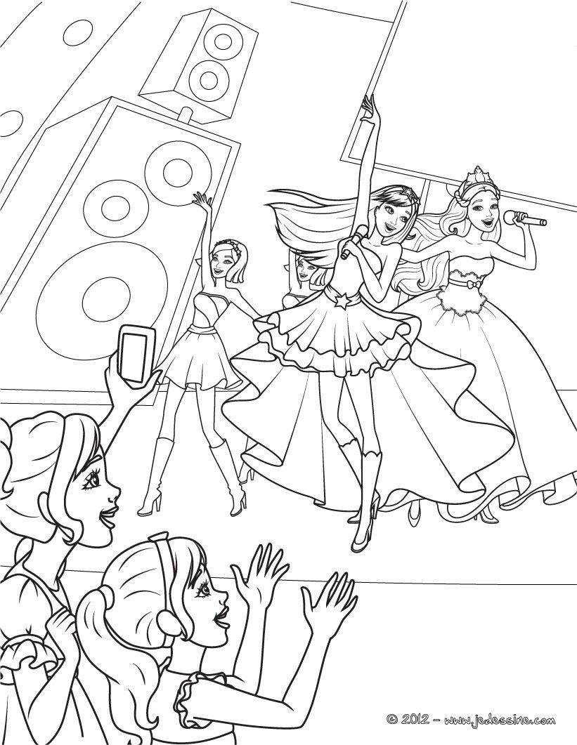 Coloring   Rockstar   Ausmalbilder, Ausmalen innen Ausmalbilder Barbie Und Der Popstar