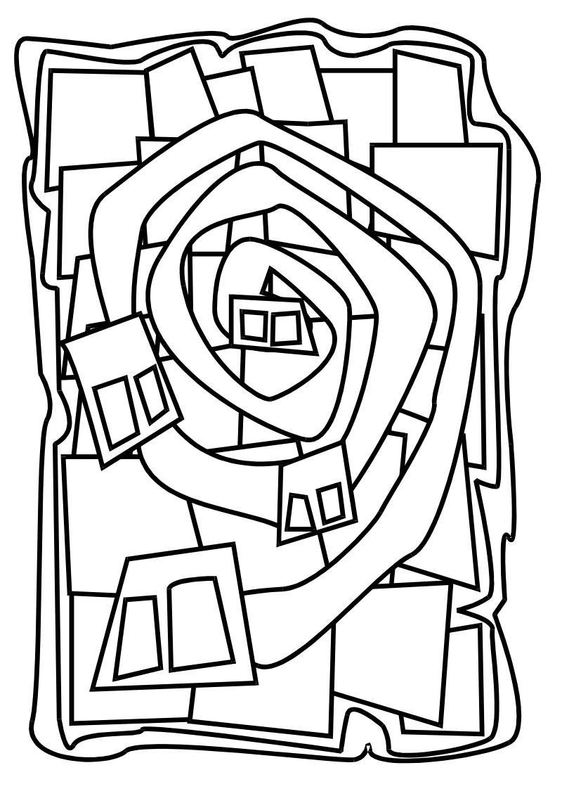 Colouring Picture Hundertwasser (Mit Bildern über Hundertwasser Zum Ausmalen
