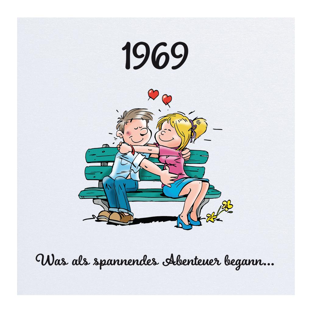 Comic-Einladungskarte Leporello Mit Verliebtem Paar Damals bestimmt für Verliebtes Paar Comic