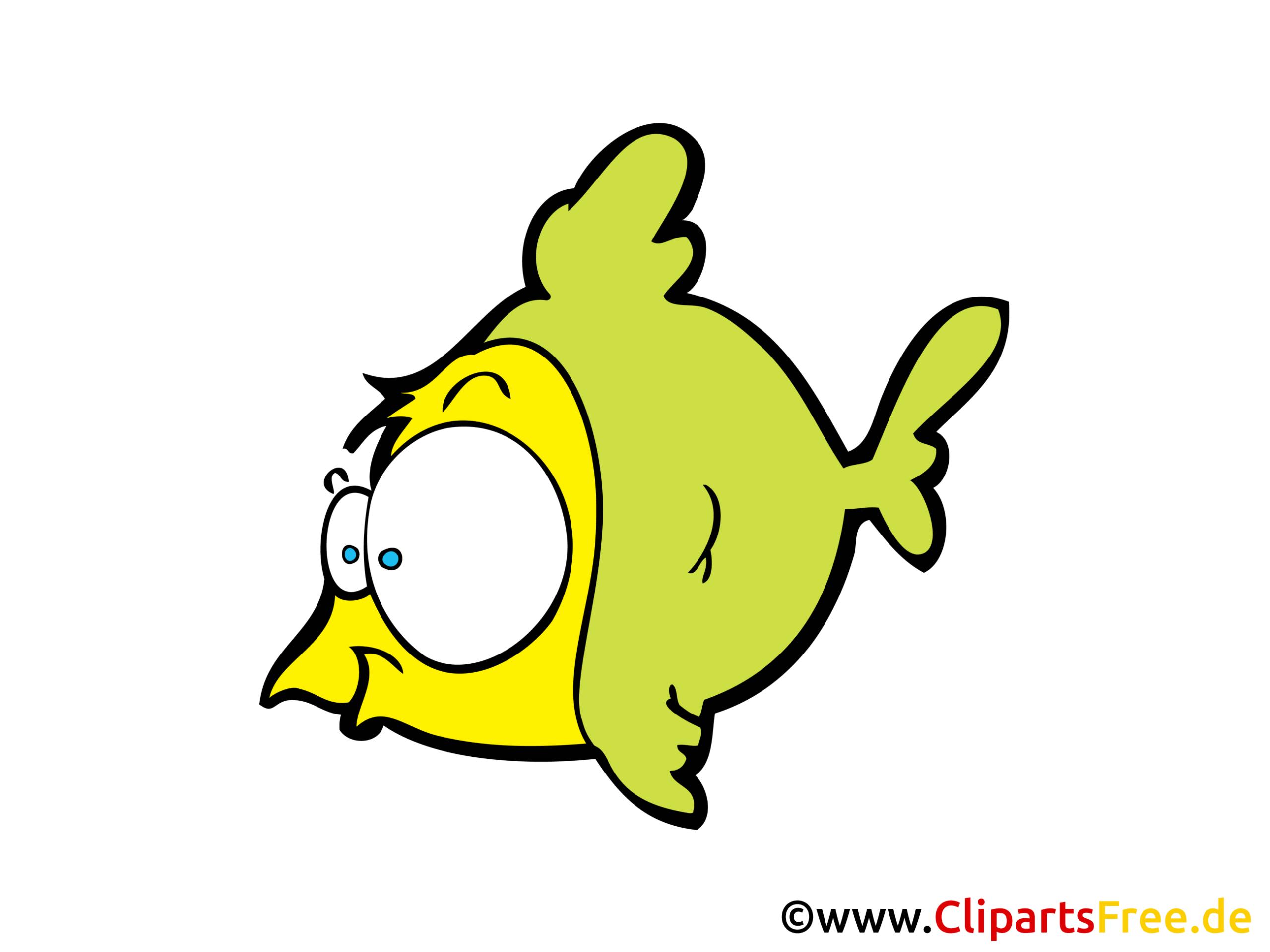 Comic Fisch Clipart, Cartoon, Bild Gratis bei Fische Comic