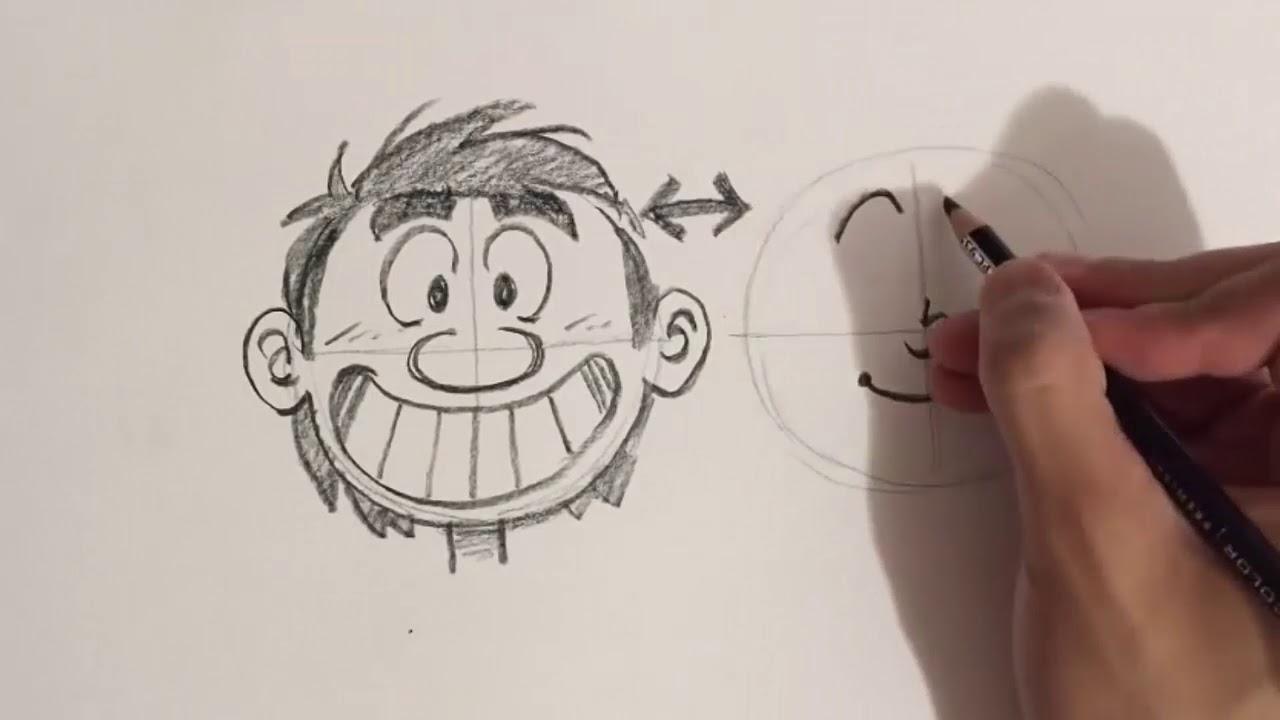 Comic Zeichnen Lernen Für Anfänger   Lustige Gesichter Zeichnen Mit  Bleistift mit Comicfiguren Zeichnen Lernen