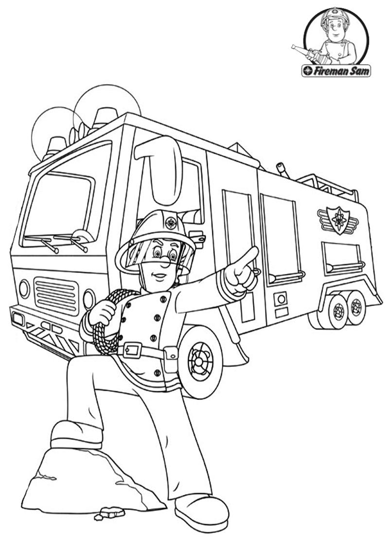 feuerwehrmann sam ausmalbilder kostenlos  kinderbilder