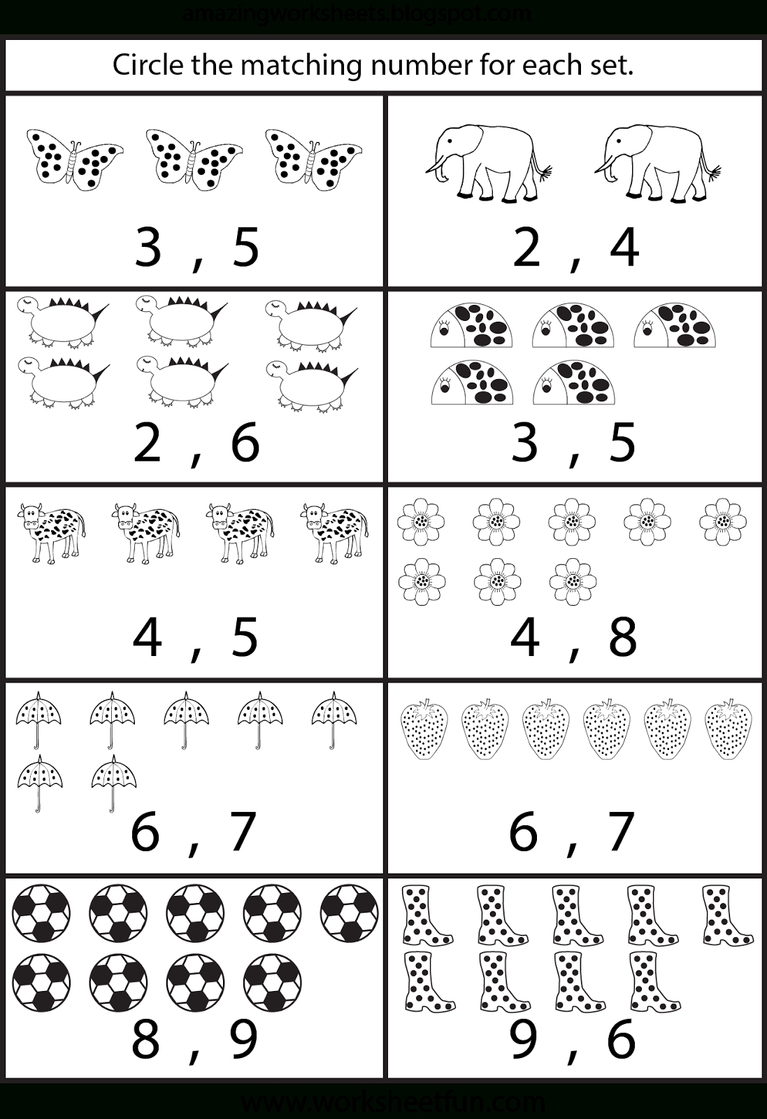 Counting Worksheets For Kindergarten   Arbeitsblätter ganzes Arbeitsblätter Für Vorschulkinder