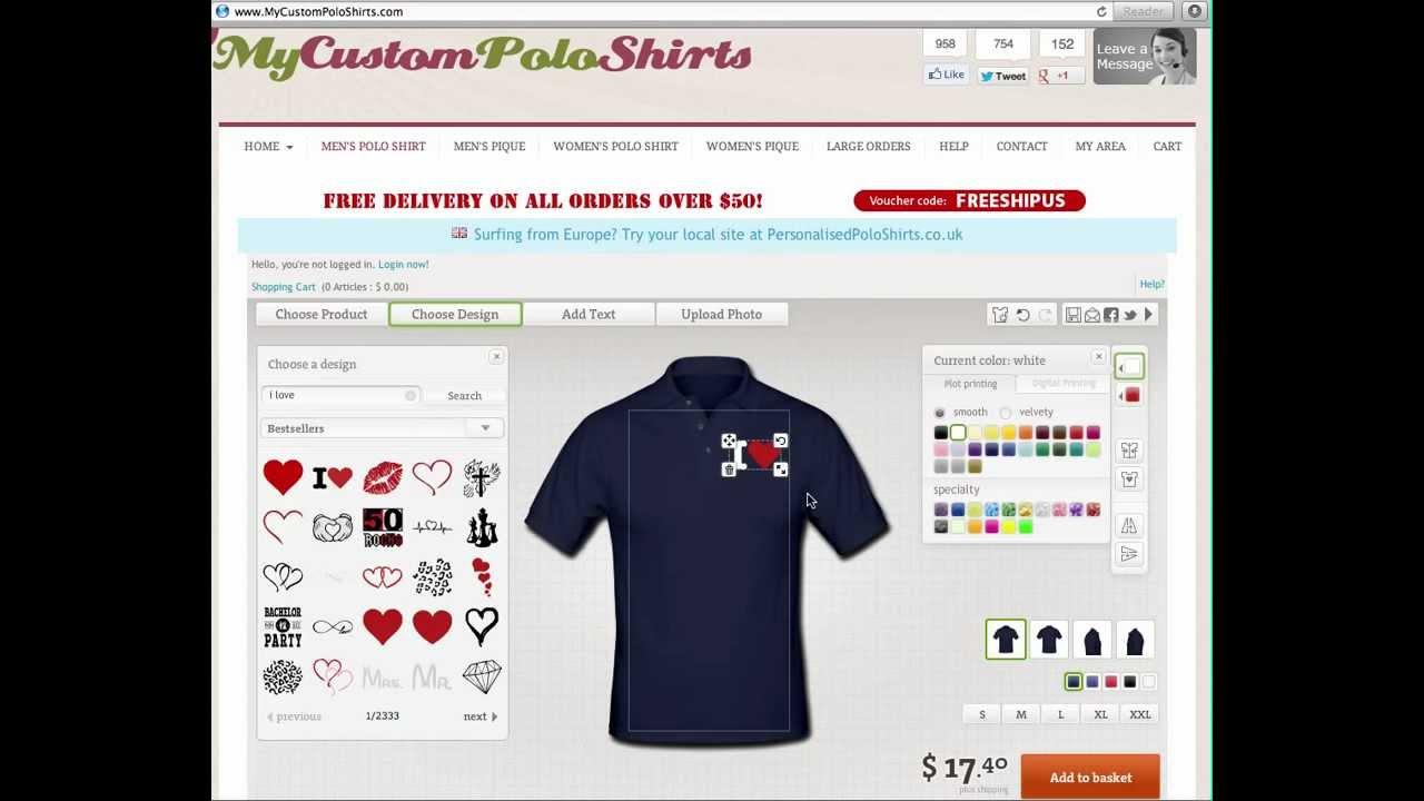 Custom Polo Shirts - Design Your Own Custom Polo Shirts verwandt mit Shirt Designer Online