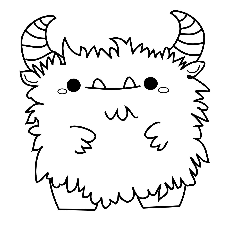 Cuties   Monster Coloring Pages, Cute Monsters Drawings mit Lustige Ausmalbilder