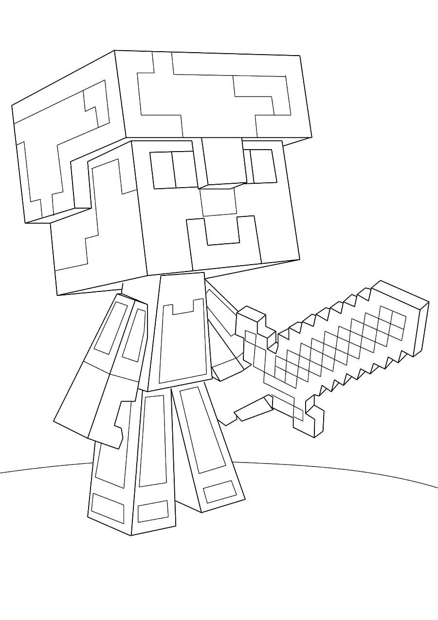 Раскраски Майнкрафт. Распечатайте Бесплатно! 100 Картинок По verwandt mit Minecraft Ausmalbilder Zum Ausdrucken