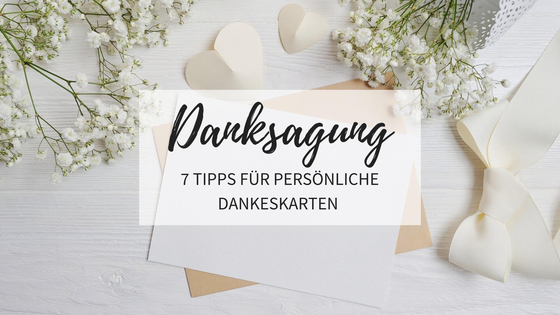 Danksagung Nach Der Hochzeit: 7 Tipps Für Persönliche innen Dankes Karten