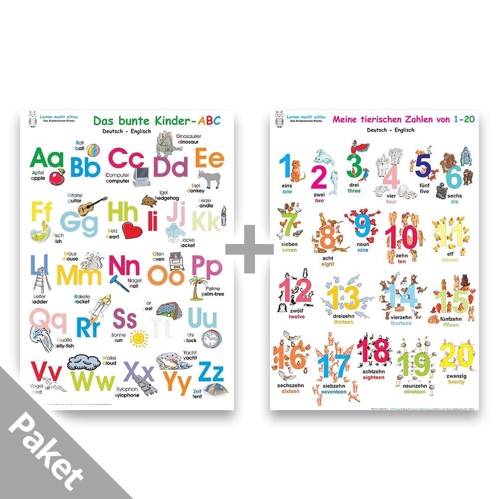 Das Bunte Kinder-Abc + Meine Tierischen Zahlen (Deutsch/englisch) verwandt mit Tiere Mit Anfangsbuchstaben A
