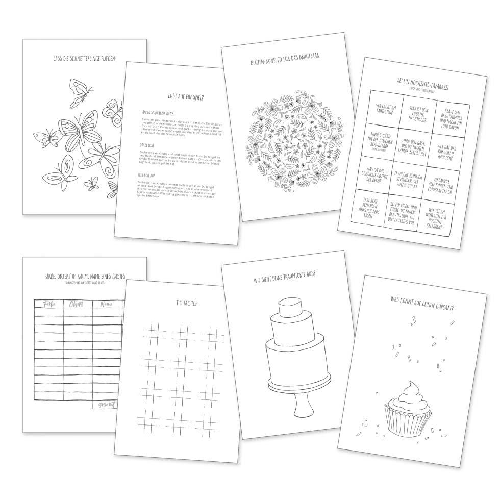 Das Coolste Hochzeitsmalbuch Für Die Kleinen Gäste – Für ganzes Malbuch Hochzeit