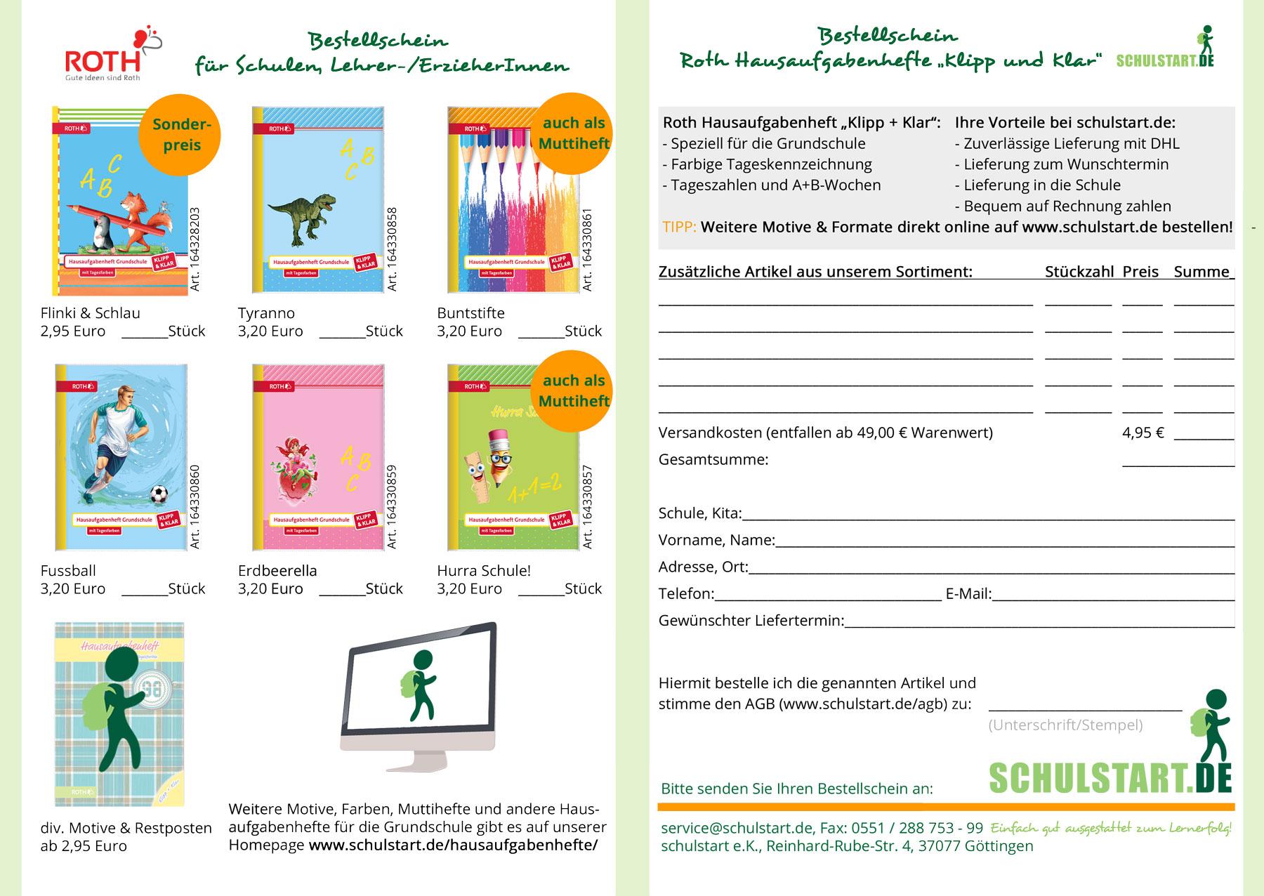 Das Hausaufgabenheft Für Grundschule & Gymnasium   Schulstart.de für Hausaufgabenheft Kostenlos Bestellen
