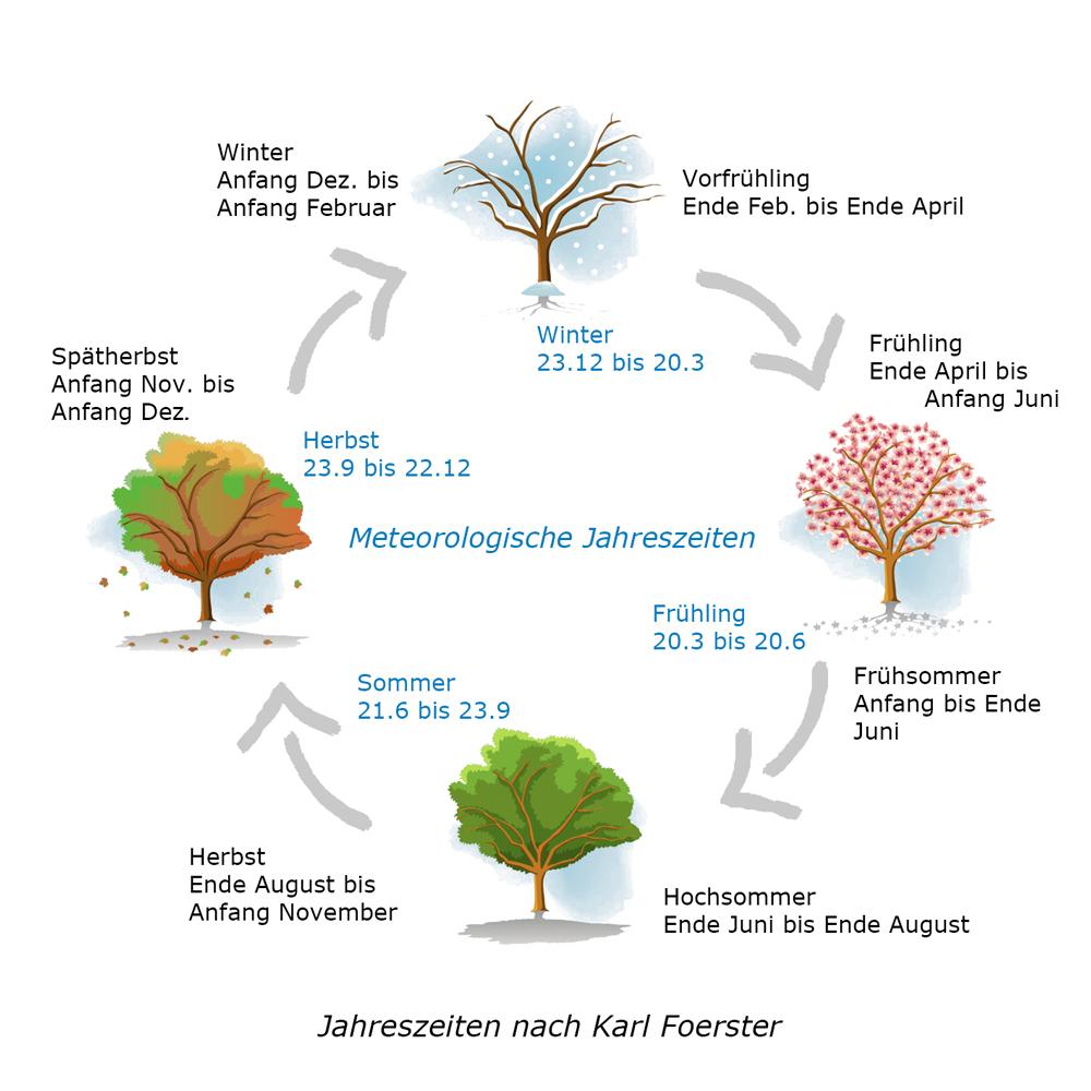 Das Jahr In 7 Jahreszeiten – Der Foerster'sche Kalender mit Beginn Der Jahreszeiten