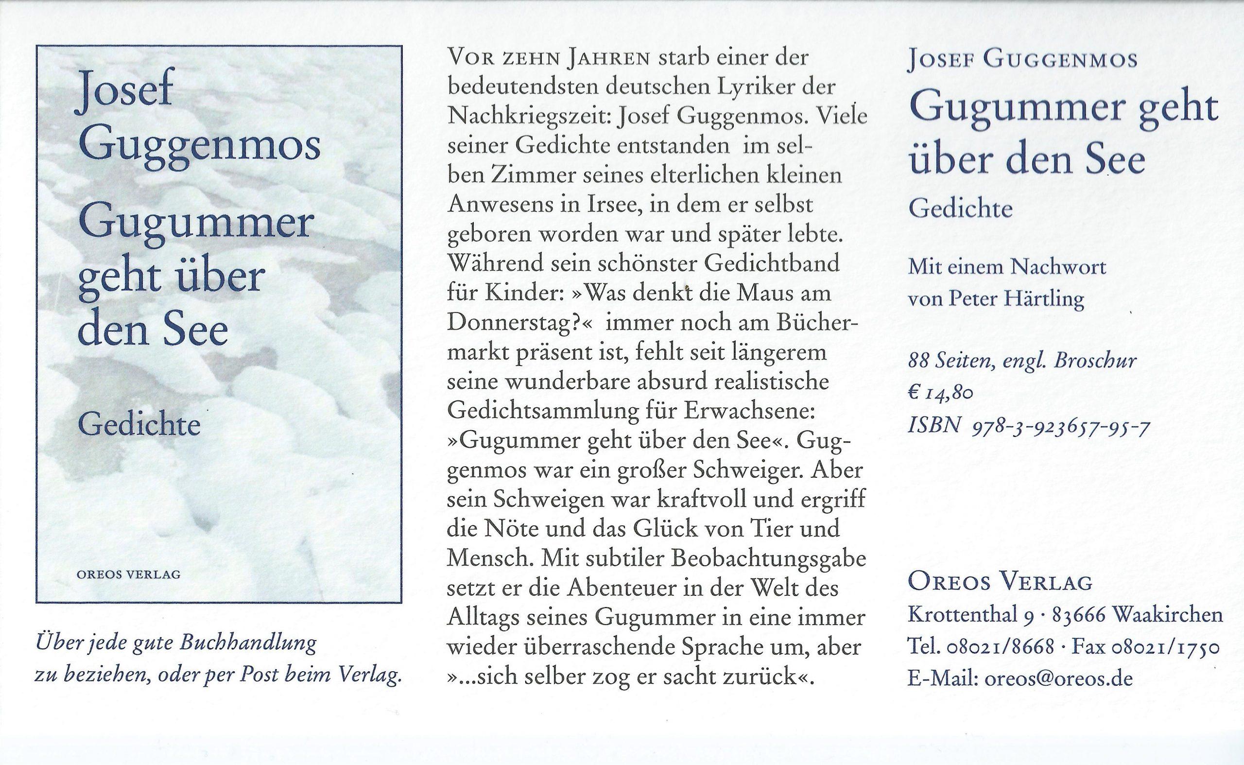 Das&dies für Josef Guggenmos Gedichte Grundschule