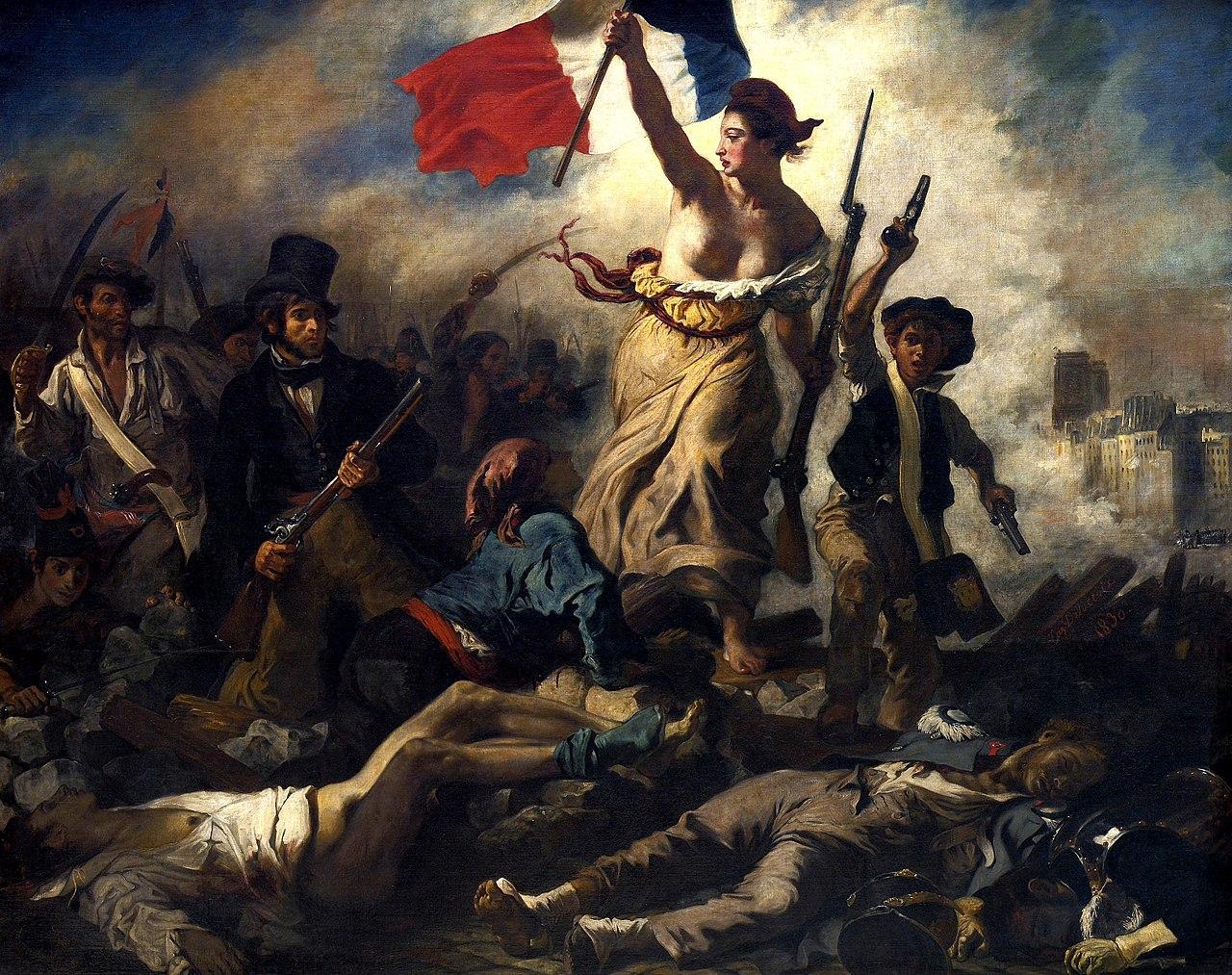 Datei:eugène Delacroix - La Liberté Guidant Le Peuple mit Delacroix Die Freiheit Führt Das Volk