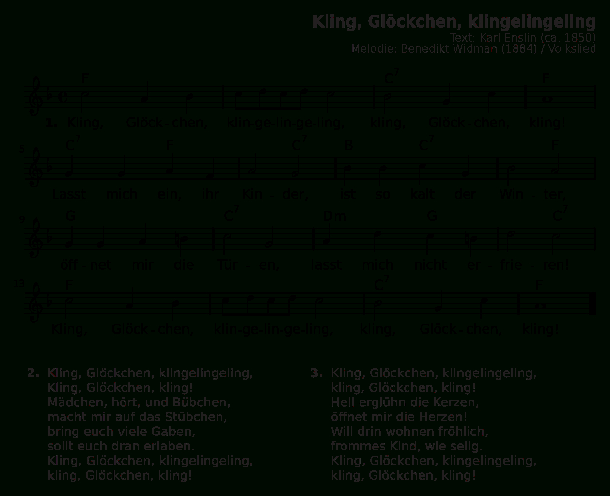Datei:kling, Glöckchen, Klingelingeling.svg – Wikipedia verwandt mit Kling Glöckchen Klingelingeling Text