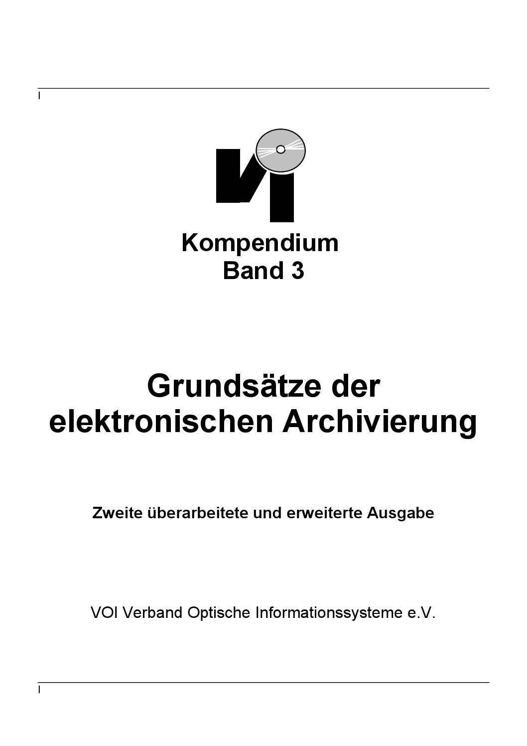 De] Grundsätze Der Elektronischen Archivierung | Dr. Ulrich ganzes Deckblatt Werte Und Normen Zum Ausdrucken