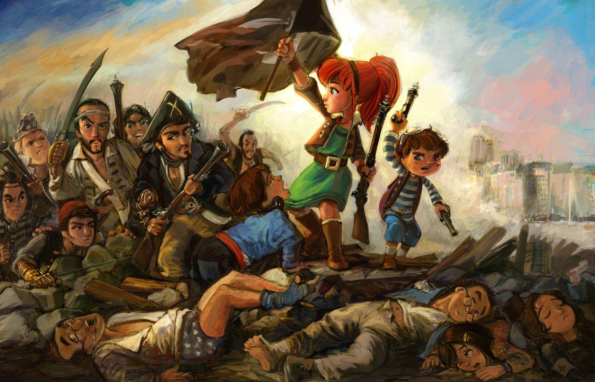 Delacroix, E. - Die Freiheit Führt Das Volk (Mit Bildern bestimmt für Delacroix Die Freiheit Führt Das Volk