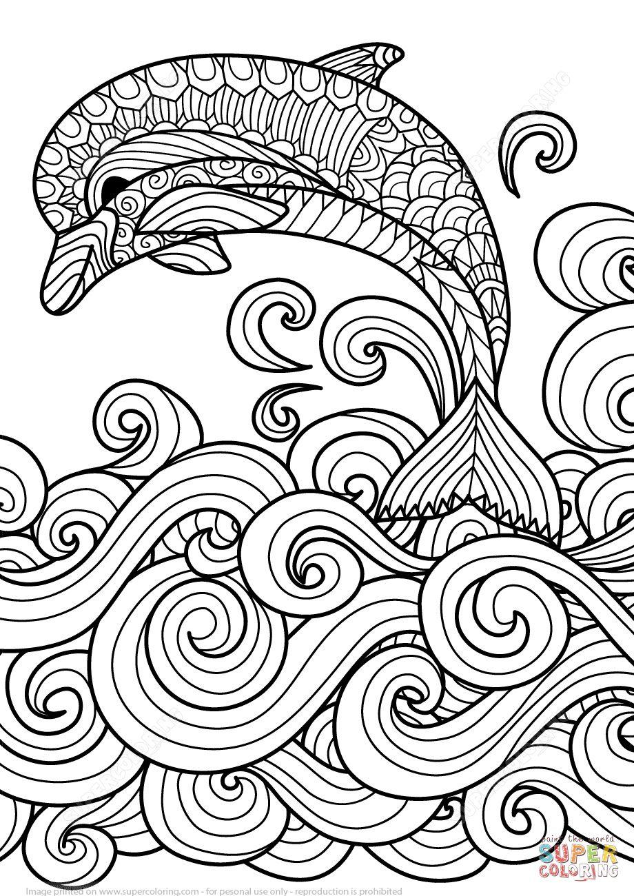 Delfin Bilder Zum Ausmalen   Mandala Ausmalen, Malvorlagen bestimmt für Delfin Ausmalbild