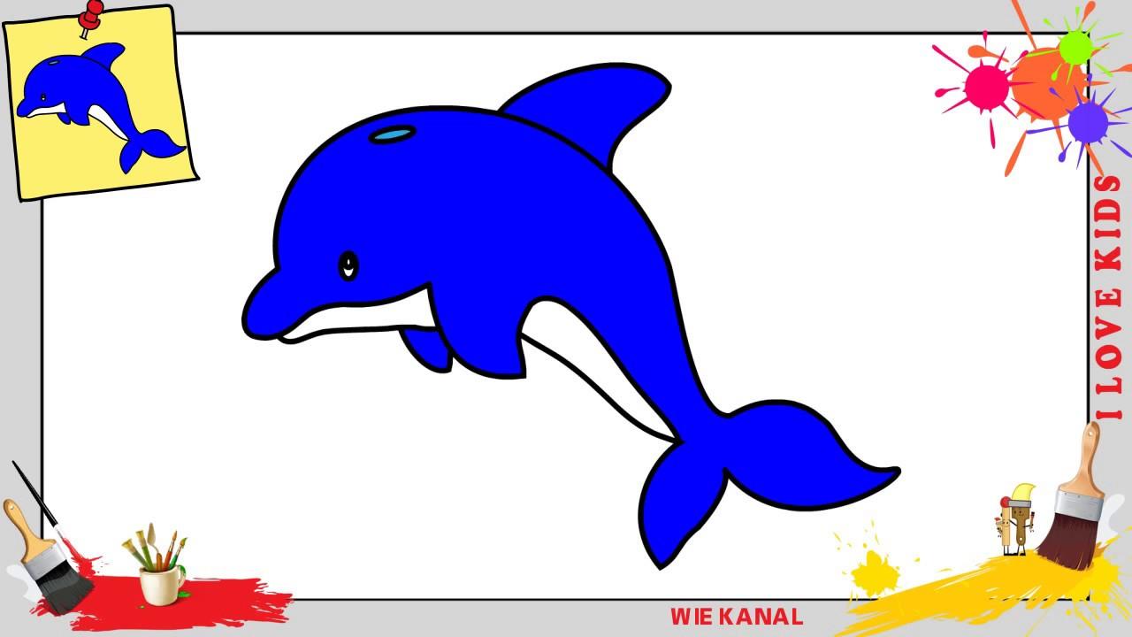 Delfin Zeichnen 2 Schritt Für Schritt Für Anfänger & Kinder - Zeichnen  Lernen bestimmt für Delfine Zeichnen