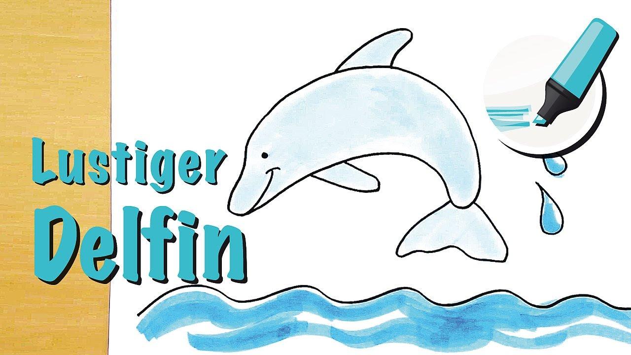Delfin Zeichnen Lernen (Flipper) - How To Draw A Dolphin (Cartoon) über Delfine Zeichnen